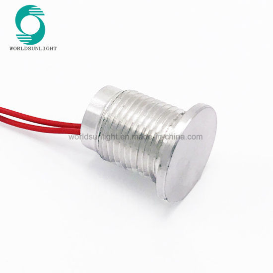 Ws120f1nom IP68 Waterproof 12mm Flat Head Momentary Aluminum Oxidation Small Piezo Switch pictures & photos