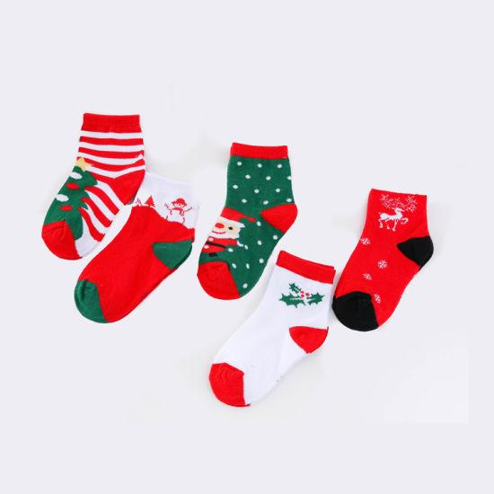 2018 baby child cotton jacquard funny christmas gift socks - Funny Christmas Socks
