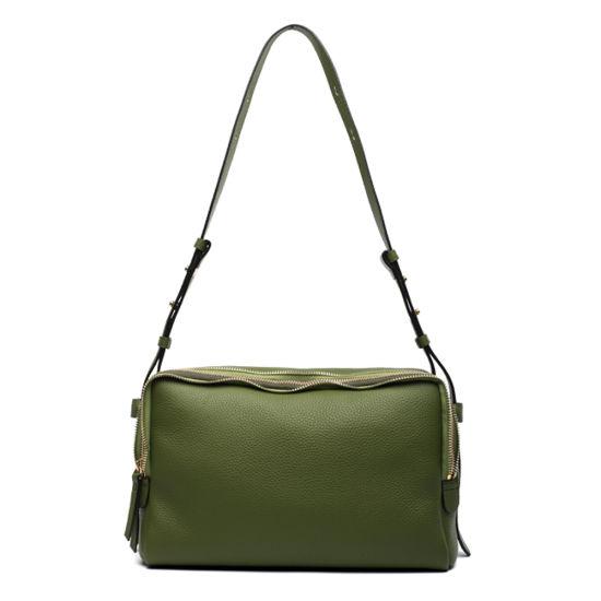 Custom Lady Genuine Leather Handbag OEM Casual Shoulder Hand Bag