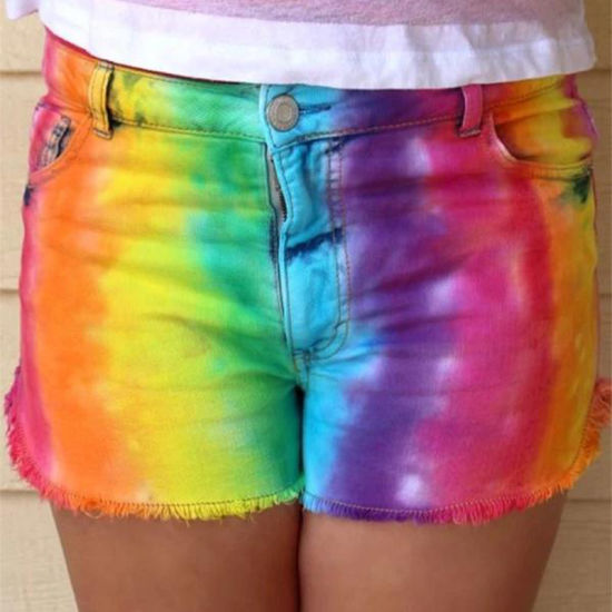 Lady Fashion Denim Shorts Pants Jeans
