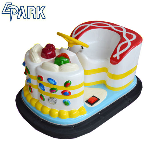 Outdoor Lovely Cake Design Mini Electronic Bumper Car For Kids
