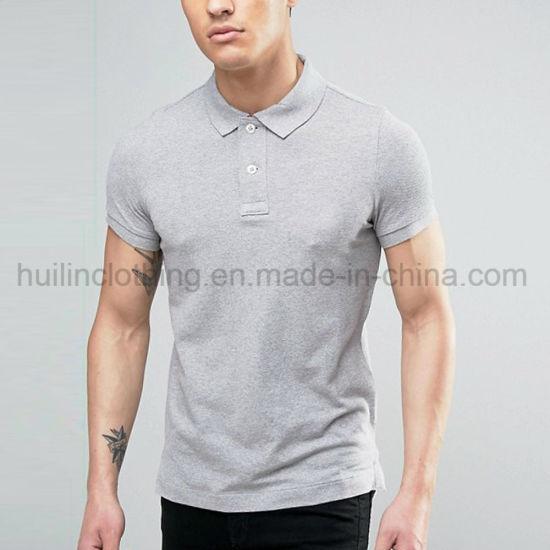 cef935bd China Men Plain Slim Fit Short Sleeve Polo Shirts - China Polo ...