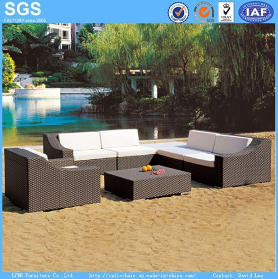 Outdoor Hotel Furniture Poly Rattan Sofa Set for Wholesale