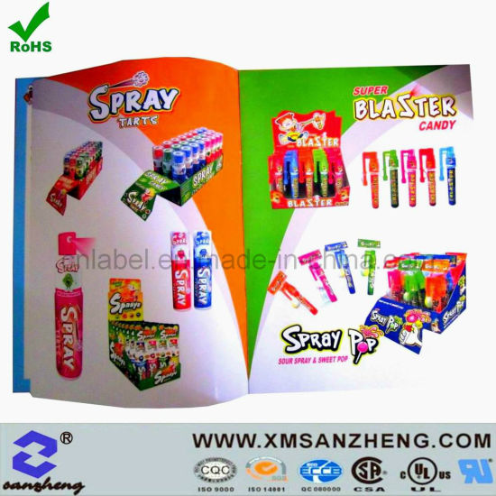 China Full Color Custom Glossy Clear Unique Name Food Promotional