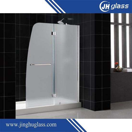 Toughened Walk In Shower Glass Door With Precise Hole Cutout