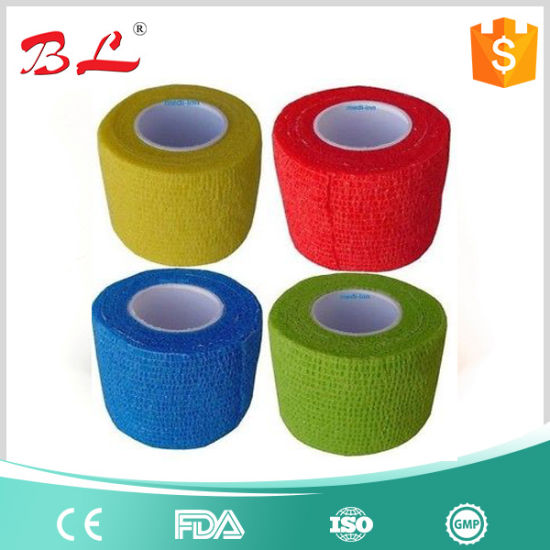 China Latex Free Cohesive Elastic Bandage Sport Wrap Bandage Colorful Wrap Bandage China Surgical Colourful Self