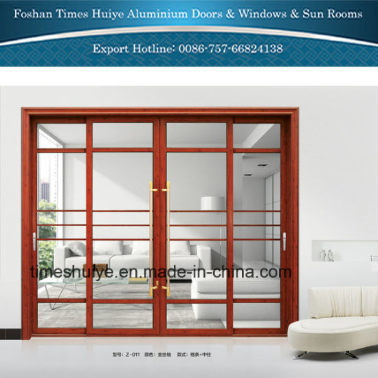 China Temperedtoughened Glass Aluminum Interior Doors Hanging Doors