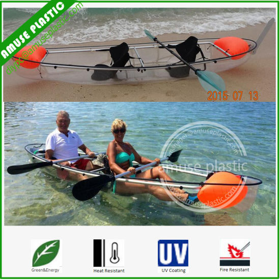 2 Person Sit On Top Kayak Travel Polycarbonate Canoe