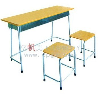 Classroom Furniture Height Adjustable Double School Student Desk (GT-47) pictures & photos