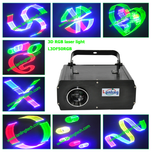 2013 Hot 3D RGB Laser Stage Lighting for Your Party