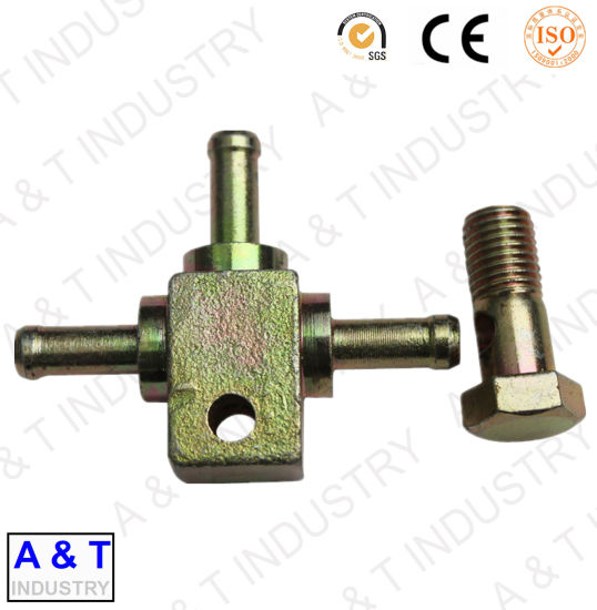 Zinc Coated Low Carbon Steel Cross Adapter Made of Forging pictures & photos