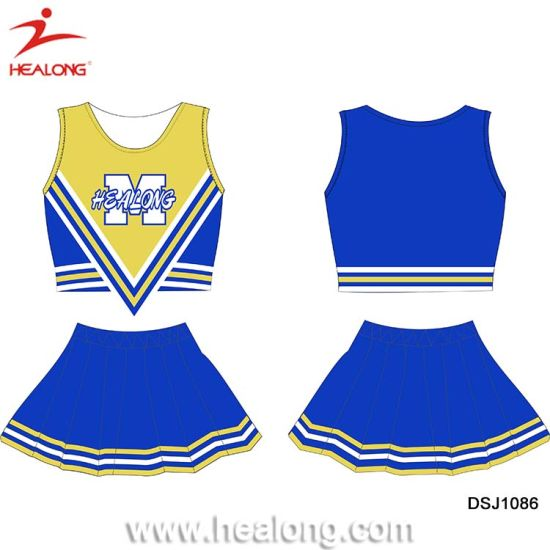 Healong Biggest Factory 3D Sublimation Uniformes Cheerleading Jerseys pictures & photos