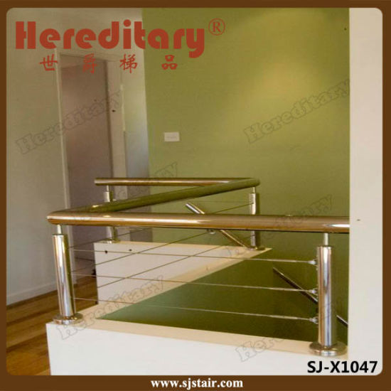 Exterior SUS 304 316 Balcony Cable Wire Railing / Stainless Steel Baluster (SJ-X1045) pictures & photos