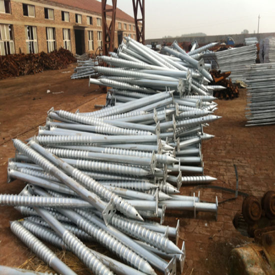 Solar Mounting System Ground Screw Anchor Pile with Factory Supply pictures & photos