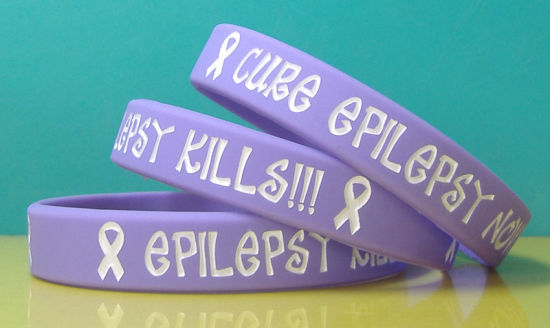 Custom Embossed Color Printed Silicone Rubber Bracelet