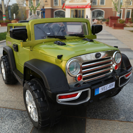 Jeep Large Size Kids Electric Car with LED Light Baby SUV Toy Car