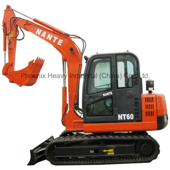 Hot Sale 6tons Crawler Excavator with Rubber Track and Attachments