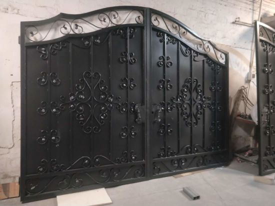 Custom High-Quality Hot-DIP Galvanized Automatic Elegant Wrought Iron Gates for Driveway