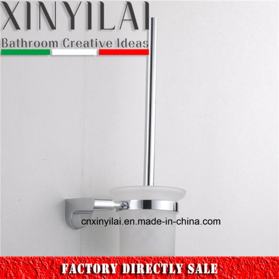 Bathroom Set Zinc Toilet Brush Holder with Matte Glass Cup pictures & photos