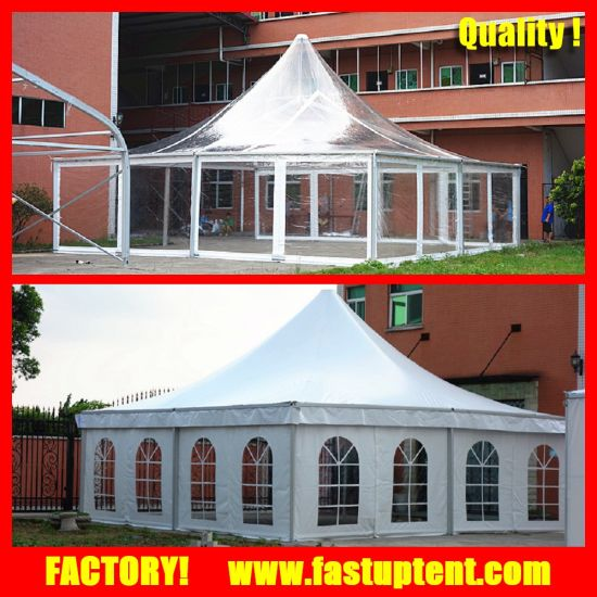 8X8m 10X10m 15X15m Transparent Clear Top Roof Pagoda Tent