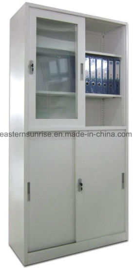Half Glass Sling Door Metal Steel Iron Filing Cupboard/Cabinet