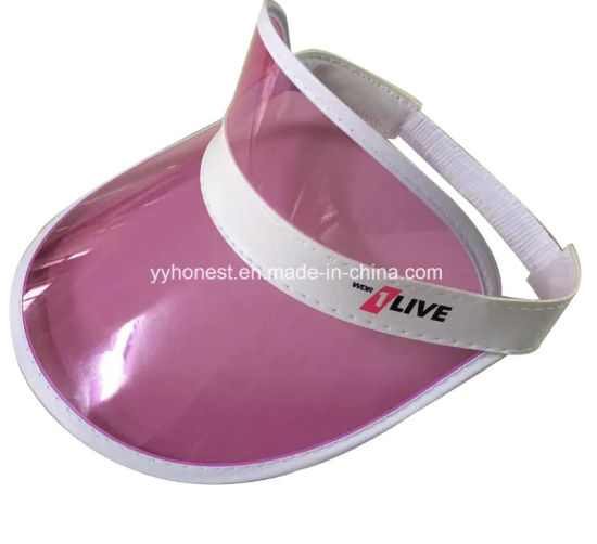 Custom Fashion Cheap Colorful PVC Sun Visor Hat pictures & photos