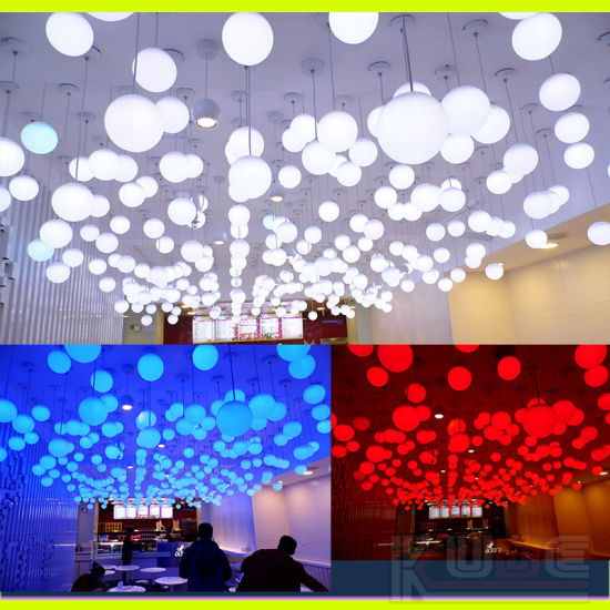 China Decorative RGB Glowing Globe LED Hanging Plastic Balls China Impressive Decorative Globe Balls