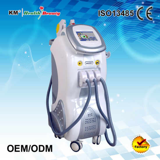 Multifunction Beauty Equipment Q Switched ND YAG Laser with Elight/IPL Shr RF pictures & photos