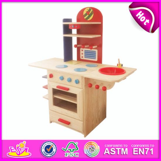 2014 New Pretend Wooden Baby Kitchen Toy, Popular Wooden Wooden Baby Kitchen and Hot Sale Wooden Baby Kitchen W10c081b