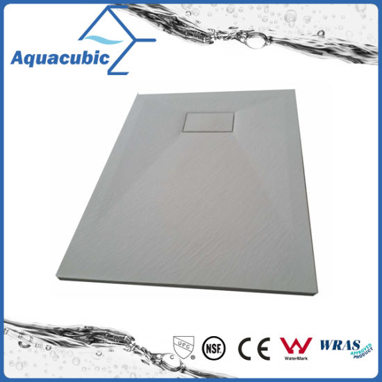 Sanitary Ware 1100*700 High Quality Wood Surface SMC Shower Tray (ASMC1170W) pictures & photos