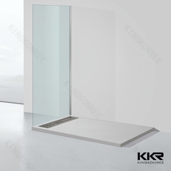 Wholesale Factory Custom Made Solid Surface Stone Shower Tray Shower Base 0308