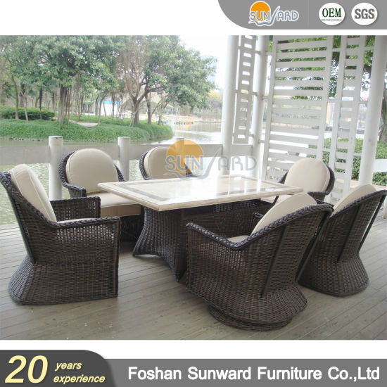Luxury Patio Us Style Aluminium Leisure Dining Set Restaurant Home Table and Chairs Hotel Outdoor Garden Dining Furniture