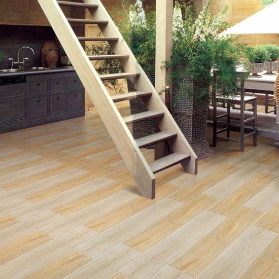 China Fancy House Garden Rustic Floor Decor Wood Look Ceramic Tile ...