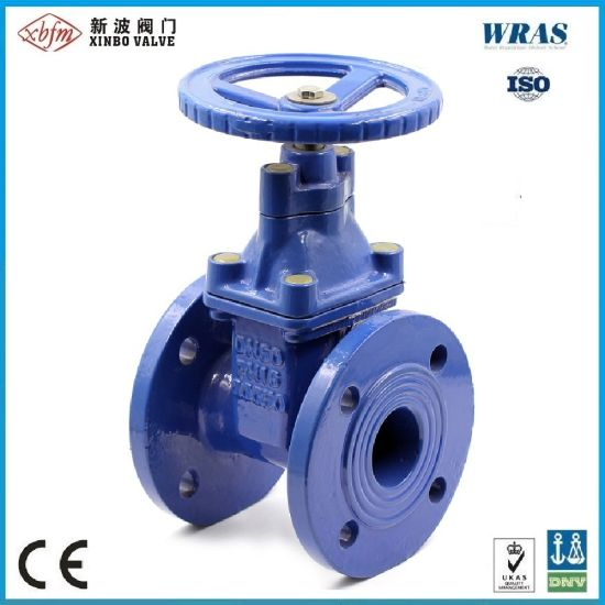 OEM/ODM UL Factory DIN3352 F4 Ductile Iron Non Rising Stem Resilient Seated Gate Valve