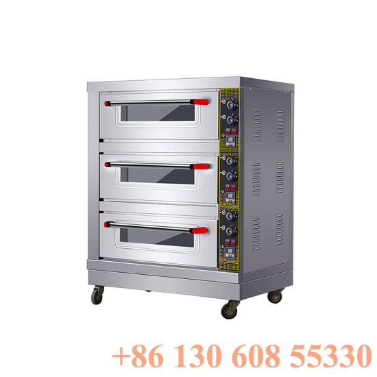 3layers 3trays Commercial Small Bakery Oven Price for Bread Cake Baking