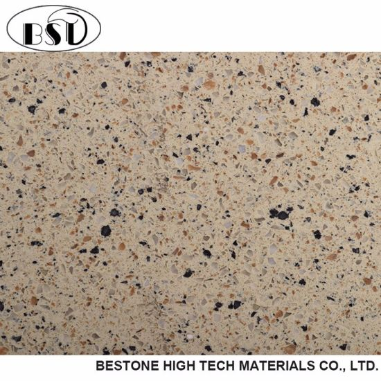 Multi-Colored Artificial Quartz Stone for Kitchen Table Top