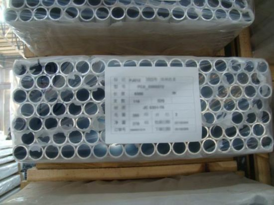aluminium rectangle tube powder coating milky white color 6061 T6 pictures & photos