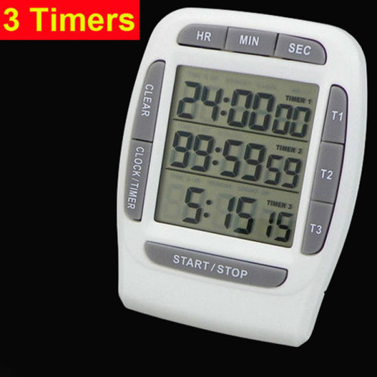 China Kitchen Timer, 12/24 Hours Clock Three Groups of Countdown ...