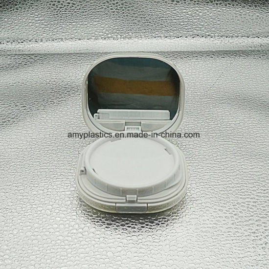 Round plastic Bb or Cc Cosmetic Cream Powder Case pictures & photos