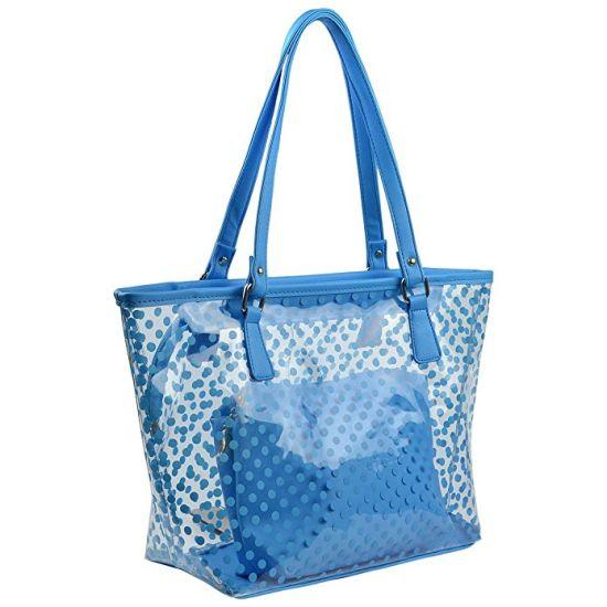 Lady Tote Bag Transpa Pvc Beach Bags Shoulder Handbag With Small Cosmetic Handbags Wdl01116