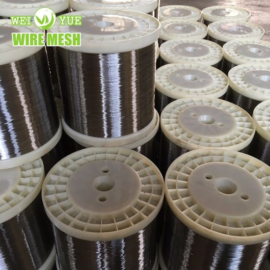 Ultra Thin Bright Annealed Stainless Steel Weaving Wires Used for Cut Resistant Gloves