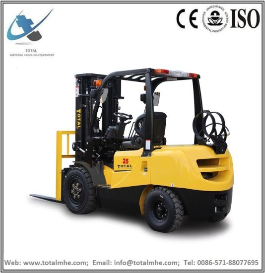 2.5 Ton Gasoline and LPG Forklift with Nissan K25 Engine