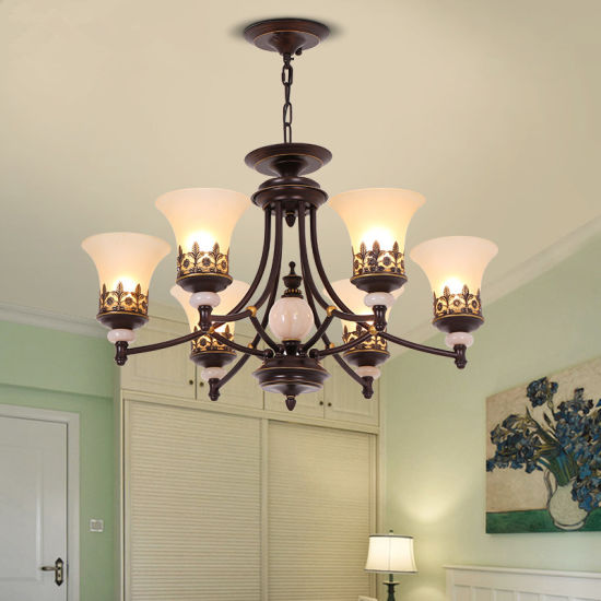 China Black Iron Dining Room Chandelier, Farmhouse Dining Room Chandelier Black