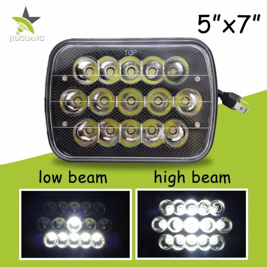 Super Bright Wholesale High Low Beam 45W 7inch LED Car Headlight