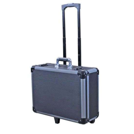 One - Piece Grey Stripes Aluminum Tool Case (KeLi-Tool-005)