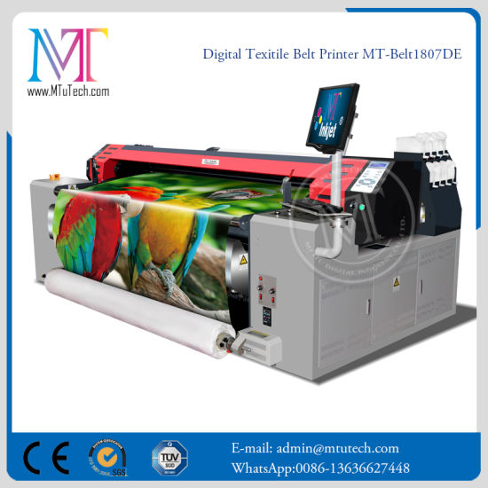 Best Quality Cotton Fabric Digital Textile Printer Silk Fabric Printer with Belt System Printing Machine pictures & photos