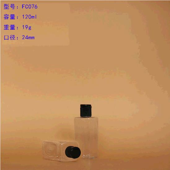 150ml Cosmetic Pet Plastic Bottle with Black Screw Cap
