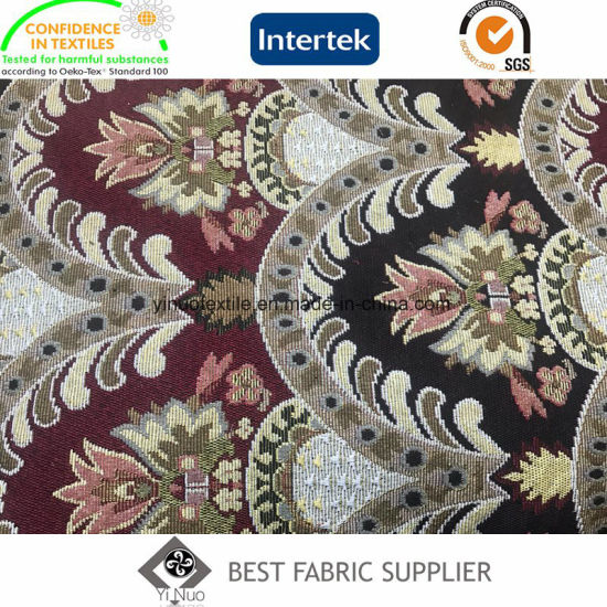 China Factory Direct Supply Yarn Dyed Jacquard Decorative Fabric For