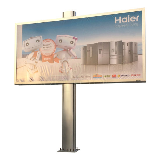 Road Side Double Sided Galvanized Advertising Back Lit Billboard pictures & photos