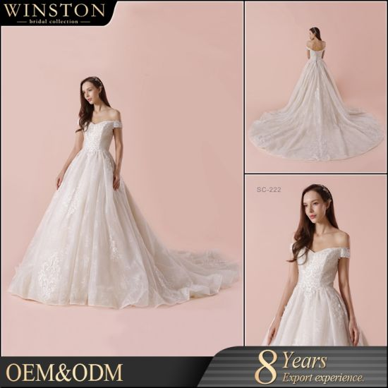 China Supply All Kinds of Ball Gown off-Shoulder Lace Appliqued ...